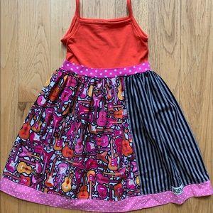 Kpea guitar dress, size 8, NWOT